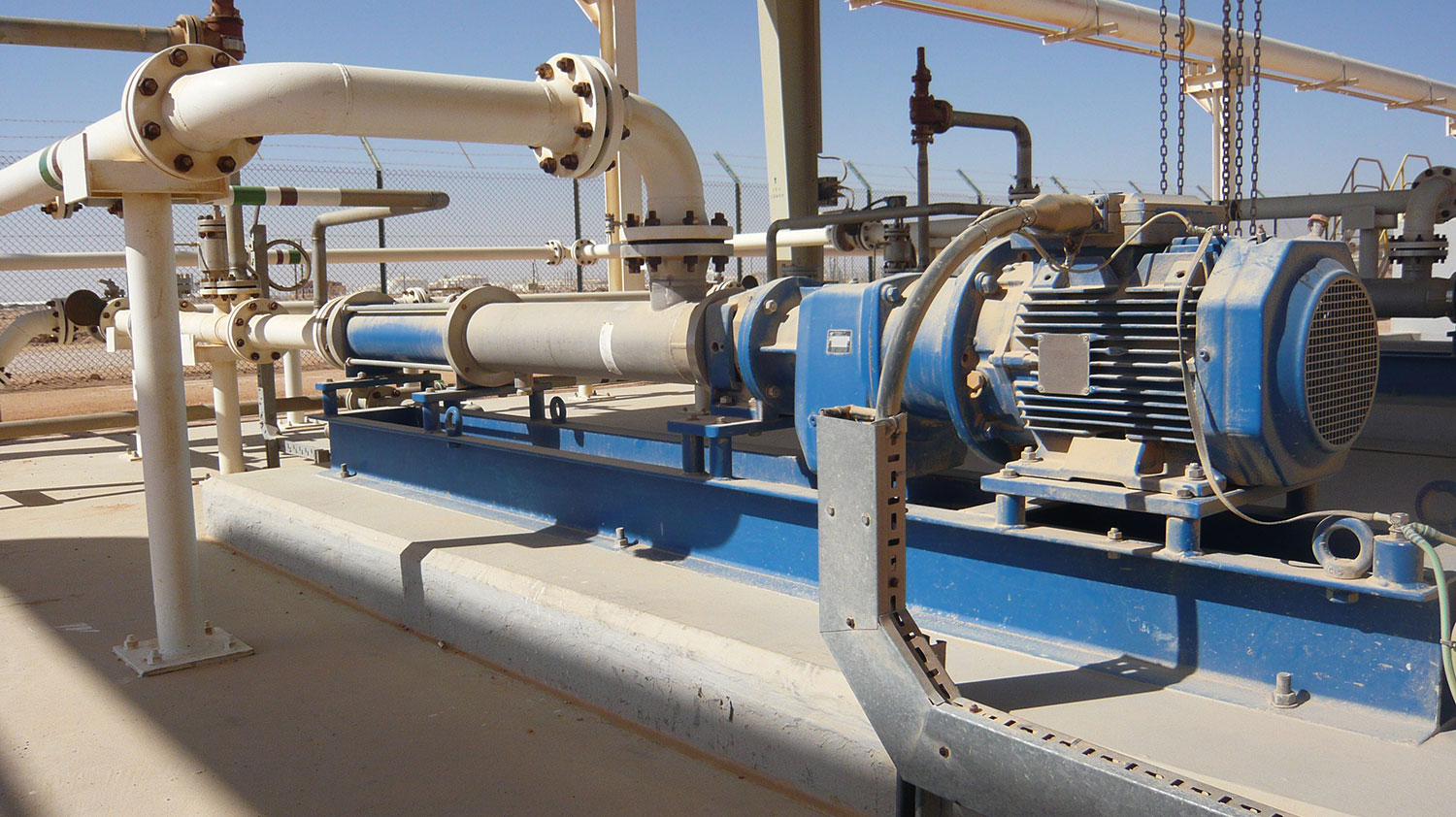 PCM Pump for polymer make-up used for EOR in Oman.