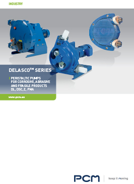 Brochure peristaltic pumps DELASCO