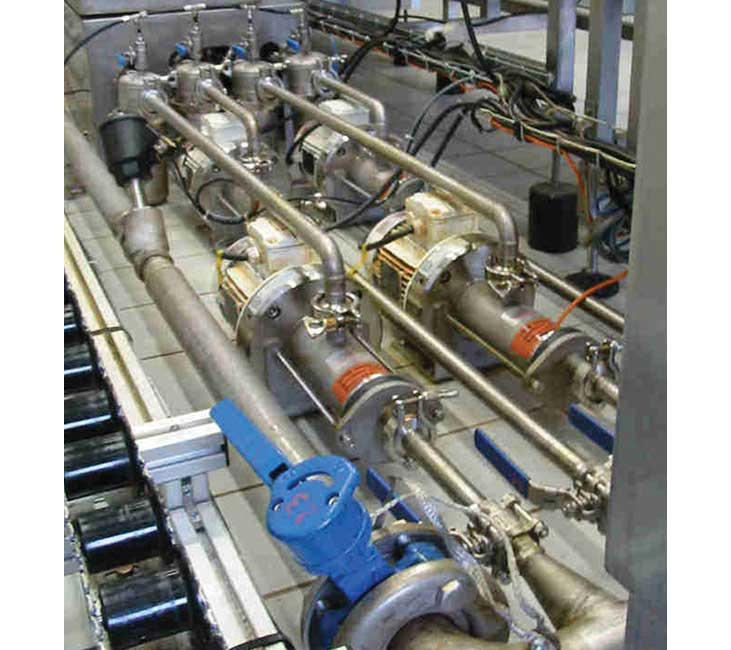 PCM EcoMoineau™C floating stator Stainless steel progressing cavity pump on customer site