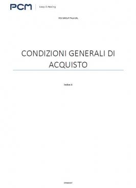 Condizioni Generali Di Acquisto - PCM Italia SRL