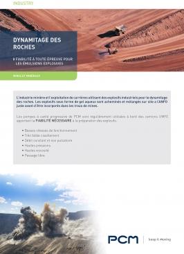 Fiche application dynamitage des roches mines