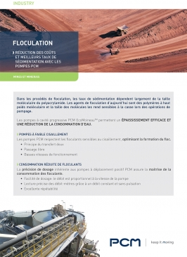 Fiche application flocculation