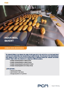 Application sheet indusrial bakery