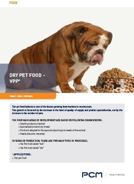Application sheet dry pet food