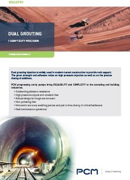 Application sheet dual grouting mining