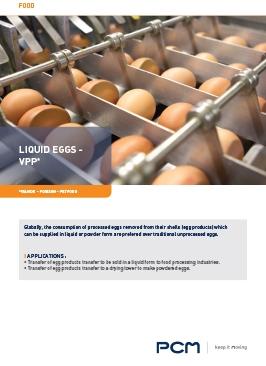 Application sheet liquid eggs