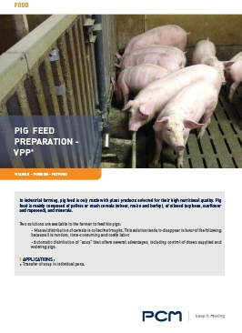 Application sheet pig feed preparation
