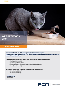 Application sheet wet pet food