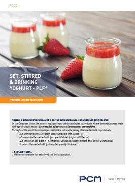 Application sheet yoghurt