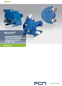 PCM Delasco™ Peristaltikpumpe Broschüre