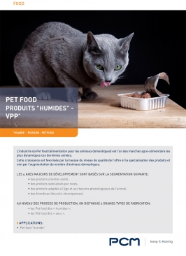 Fiche application Pet Food Humides
