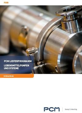 PCM Lieferprogramm - Lebensmittelpumpen und Systeme