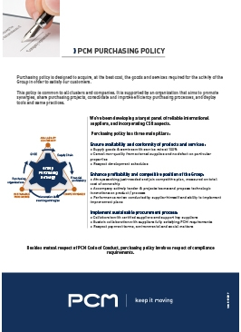purchasing policy