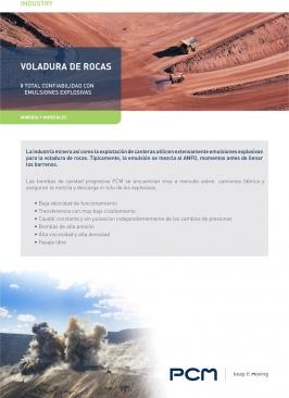 Catálogo Aplicación voladura de rocas