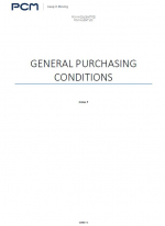General purchasing conditions - PCM Middle East FZE, PCM Muscat LLC