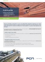 Fiche application flocculation