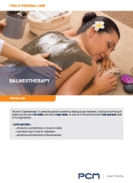 Application sheet balneotherapy