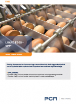 Application sheet liquid eggs