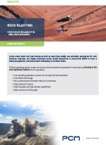 Application sheet rock blasting mining