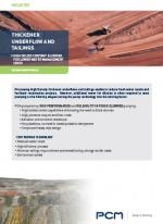 pcm application sheet tailings mining