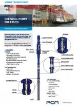 Листовка - Глубинный насос для плавучих установок для добычи, хранения и отгрузки нефти