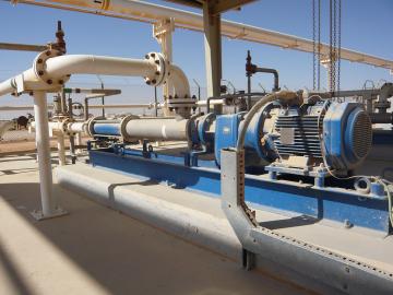 Насос ПСМ для закачки полимера при ИДН в Омане.