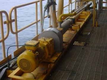 Pompa PCM per open drain su una pattaforma offshore in Quatar