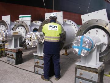 Вертикальные погружные насосы ПСМ (длиной 32м) для технологической платформы судового типа FPSO (Нигерия)