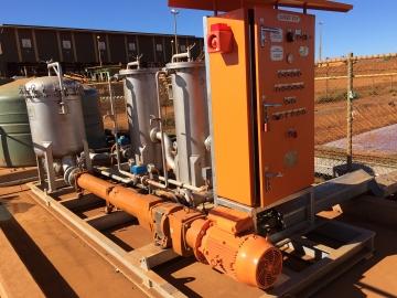 Skid Ultraspin en Australia para el tratamiento del agua