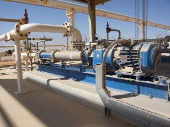 Bomba PCM integrada al sistema de preparación de polímeros para la recuperación mejorada del petróleo en Omán.