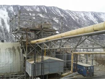 Mina de oro en Siberia