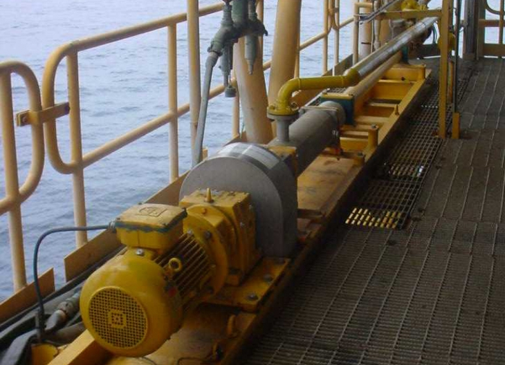 PCM pump for open drain on an offshore platform in Quatar