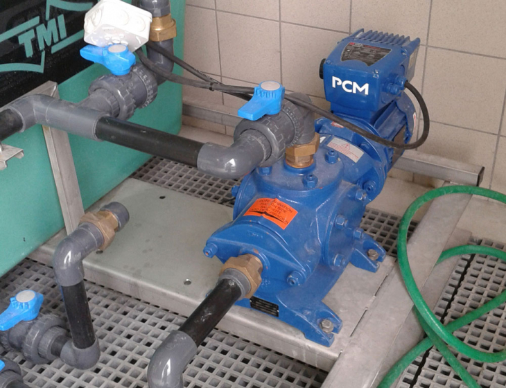 Cast iron progressing cavity pump PCM Compact on customer site