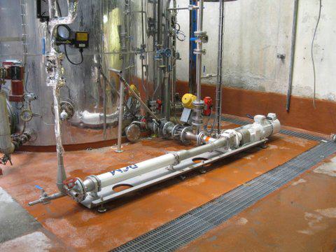 Pompa a cavità progressiva igienica HyCare™ sul sitio cliente