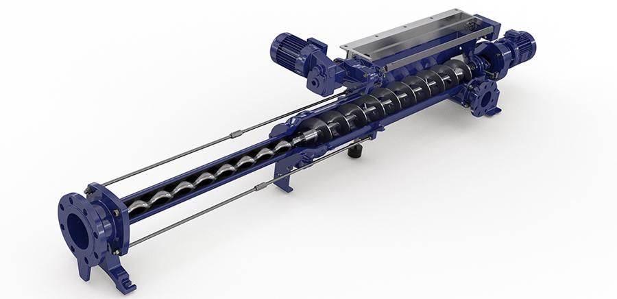 EcoMoineau™ MVA FF -  винтовые насосы с загрузочным бункером